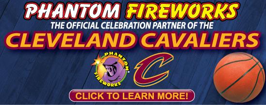 Cleveland Cavs and Phantom Fireworks